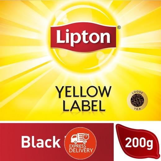 ليبتون - شاي أسود العلامة الصفراء 200 جم