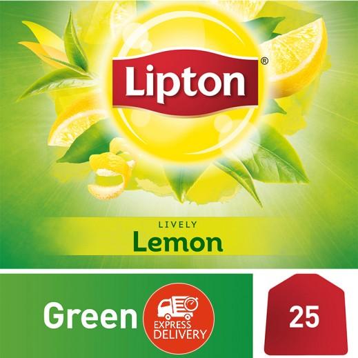 ليبتون – شاي أخضر بالليمون 25 كيس