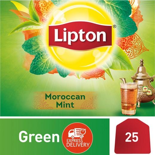 ليبتون – شاي أخضر مغربي بالنعناع 25 كيس