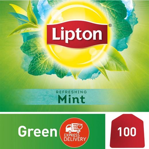 ليبتون – شاي أخضر بالنعناع 100 كيس