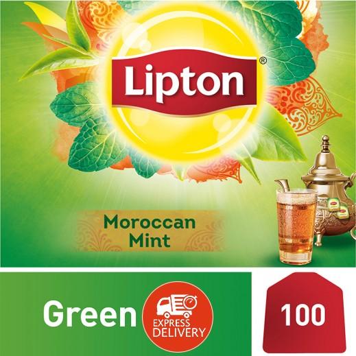 ليبتون – شاي أخضر مغربي بالنعناع 100 كيس