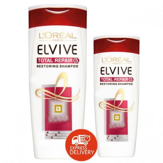 لوريال إلڤيڤ - شامبو علاج الشعر 400 مل + 200 مل مجاناً