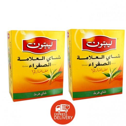 ليبتون – شاي العلامة الصفراء 2×400 جم