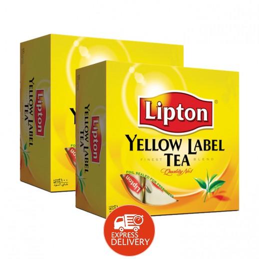 ليبتون – شاي العلامة الصفراء 2×100 كيس