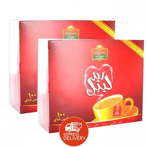 بروك بوند - شاي ريد ليبل 2×100 كيس