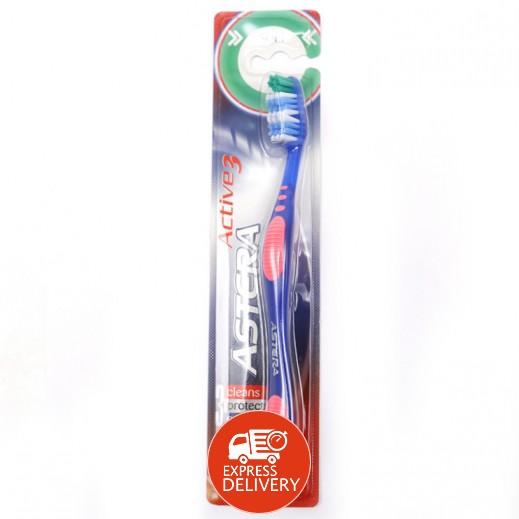 أستيرا – فرشاة تنظيف الأسنان أكتيف 3 الرقيقة
