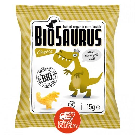 بيوسوروس - سناك الذرة العضوية المحمص مع الجبن 15 جم
