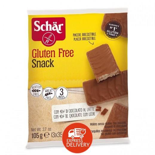 شار – شوكولاتة ويفر مع لوز وبندق خالي من الجلوتين 105 جم