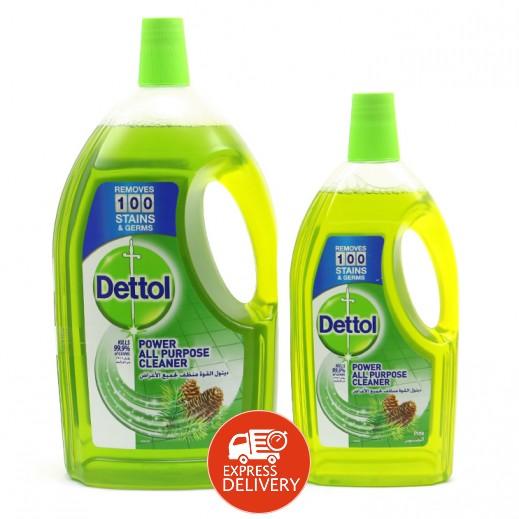 ديتول – منظف لجميع الأغراض برائحة الصنوبر 3 لتر + 900  مل مجاناً