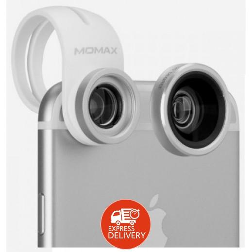 موماكس – عدسة X-Lens المزدوجة بتقريب 15x – فضي