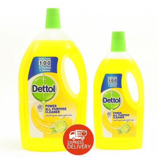 ديتول – مُنظف لجميع الأغراض برائحة الليمون 3 لتر + 900 مل مجاناً