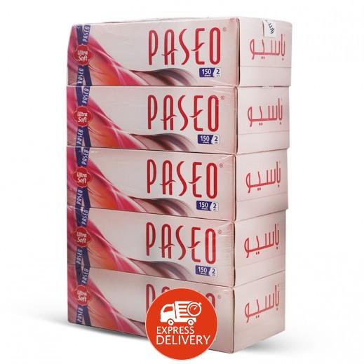 باسيو – مناديل ورقية 150 منديل ( 5 حبة )