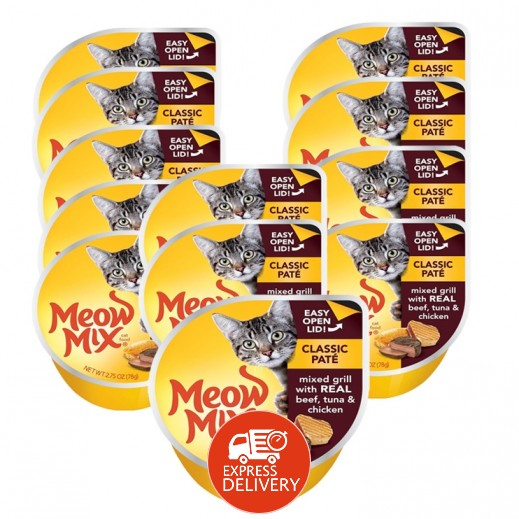 ميو ميكس – طعام القطط - وجبة تونا أصلية مع الدجاج 12×78 جم - أسعار الجملة