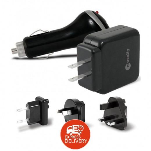 ماكالي – شاحن USB عالمي للمنزل والسيارة – أسود