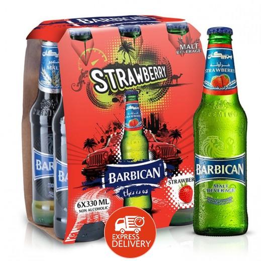 بربيكان - مشروب شعير بنكهة الفراولة 330 مل ( 6 حبة )