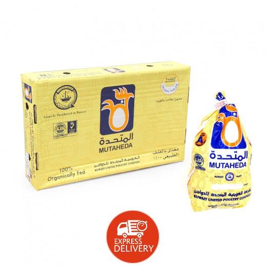 المتحدة - دجاج مجمد بدون أحشاء 1.100 كجم ( 10 حبة )