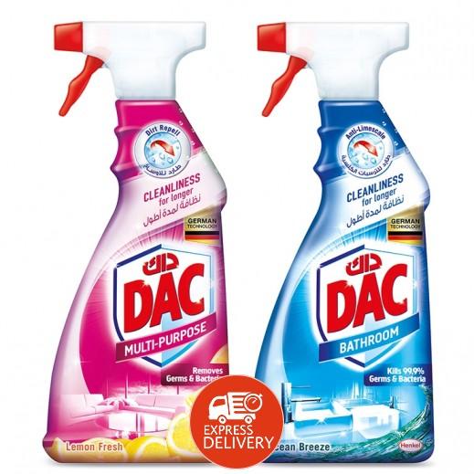 داك - منظف لجميع الأغراض برائحة الليمون المنعش 500 مل + منظف حمام داك 500 مل مجاناً