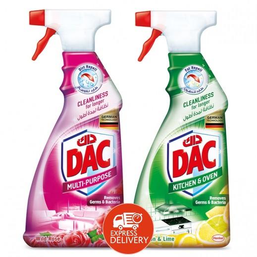داك - منظف لجميع الأغراض برائحة الورد البري 500 مل + منظف المطبخ 500 مل مجاناً
