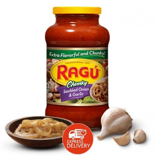 راغو - صلصة المعكرونة الأصلية بسوتيه الثوم والبصل 680 جم