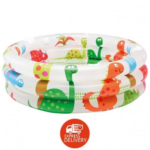 إنتكس – حمام سباحة دائري برسومات الديناصورات 61 × 22 سم