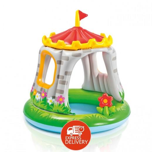 إنتكس – حمام سباحة دائري بمظلة على شكل قلعة ملكية 122 × 122 سم