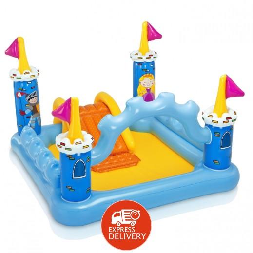 إنتكس – مركز ألعاب على شكل قلعة بزحليقة داخلية 185 × 152 × 107 سم