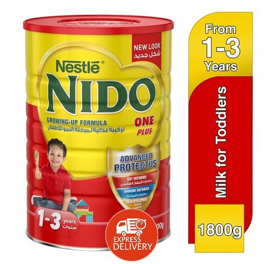 """نيدو – حليب """" وان بلس """" للأطفال 1800 جم المرحلة 3 (1-3 سنوات)"""