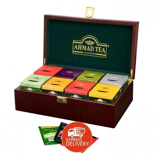 شاي أحمد - مختارات من الشاي في عبوة خشبية 8×10 كيس