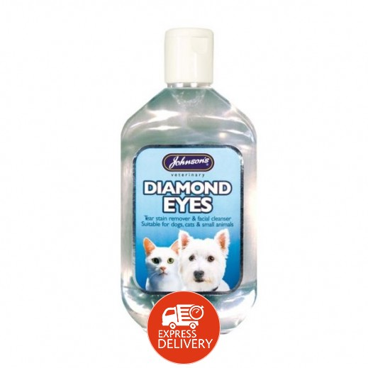 Johnson's Diamond Eye Tear Stain Remover Facial Cleaner for Cats & Dogs 250 ml