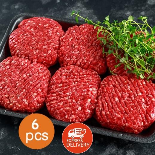 برجر اللحم البقري الأمريكي 1.2 كجم (6 قطع)