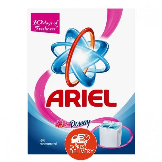 """آريال – مسحوق الغسيل الأزرق للغسالات العادية """" لمسة داوني """" 3 كجم"""