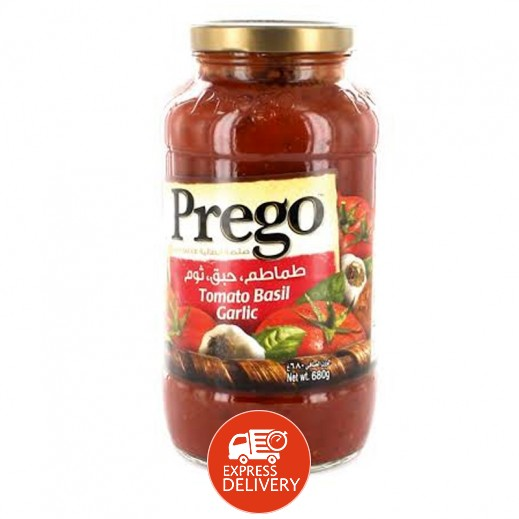 بريغو – صلصة الطماطم والريحان والثوم 680 جم