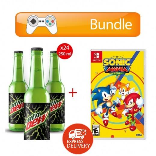 لعبة Sonic Mania Plus لجهاز نايتندو سويتش – نظام NTSC + ماونتن ديو – مشروب غازي 24×250 مل