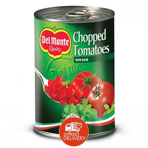 دل مونتي - طماطم مقطعة في عصير الطماطم مع الريحان 400 جم