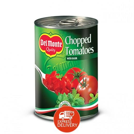 دل مونتي - طماطم مقطعة في عصير الطماطم مع الثوم 400 جم