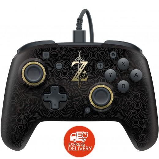 بي دي بي – يدة تحكم برو لجهاز نينتندو سويتش تصميم Legend of Zelda مع 2 غطاء ليدة التحكم