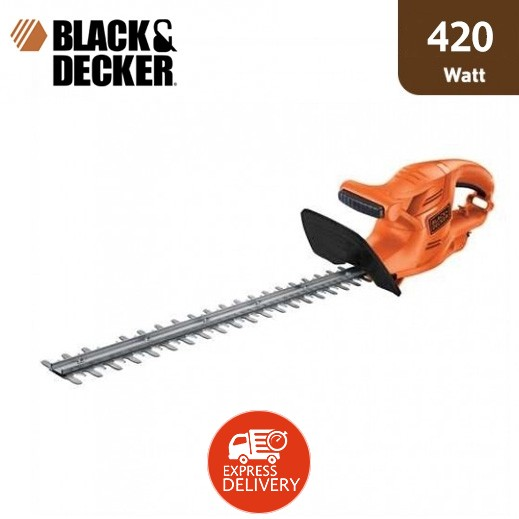 بلاك أند ديكر - ماكينة قص النباتات والعشب بقوة 420 واط – برتقالي