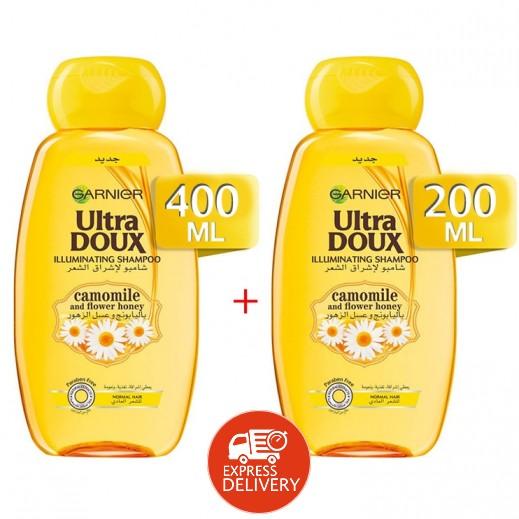 Garnier Ultra Doux Camomile & Flower Honey Shampoo 400 ml + 200 ml Free