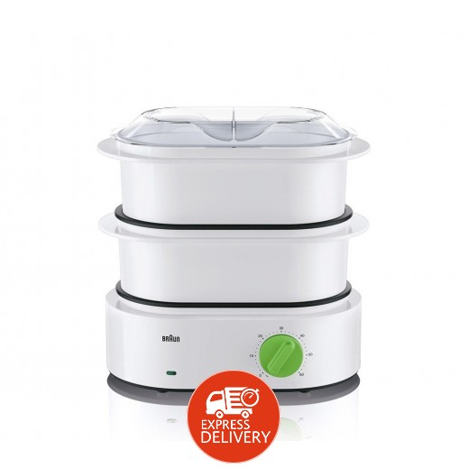 براون – جهاز تحضير الطعام بالبخار بقوة 850 واط – ابيض