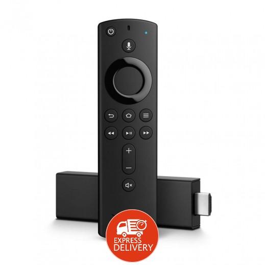 """أمازون – مشغل الوسائط """"Fire TV Stick"""" بتقنية 4K مع ريموت Alexa الصوتي – أسود"""