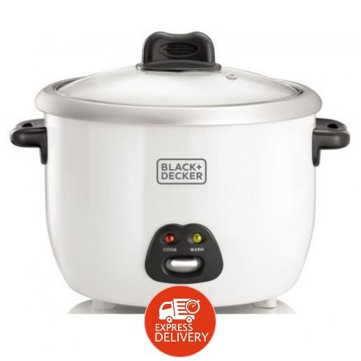 بلاك أند ديكر – طباخ الأرز مع وعاء طهي بالبخار 1.8 لتر 700 واط – أبيض