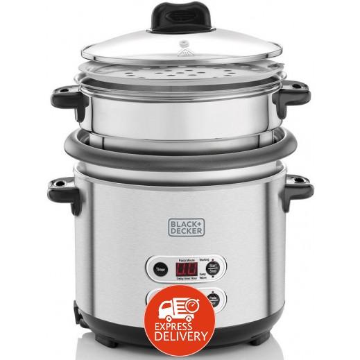 بلاك أند ديكر – طباخة الأرز و المكرونة 1.8 لتر
