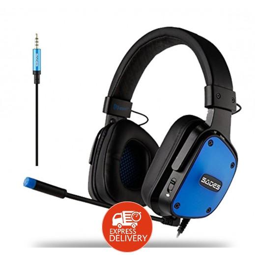 سادس – Dpower سماعة رأس لألعاب الفيديو – ازرق