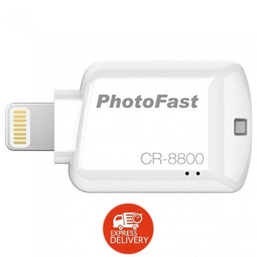 Photofast - قاريء وناسخ بطاقات الذاكرة للأجهزة iOS – ابيض