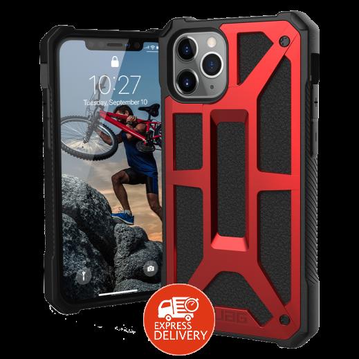 يو إيه جي – غطاء حماية خلفي لهاتف ايفون11 برو ماكس – احمرواسود