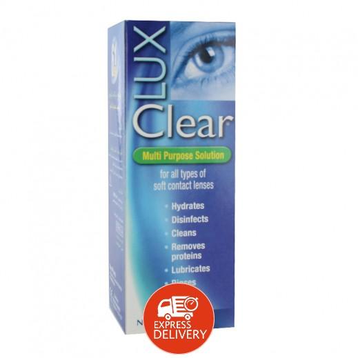لوكس كلير – محلول لجميع أنواع العدسات اللاصقة اللينة 100 مل