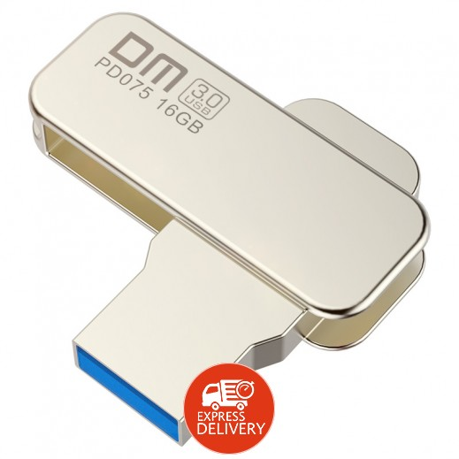 دي ام لايف – USB 3.0 فلاش دريف معدني 360° دائري – 16 جيجا - فضي