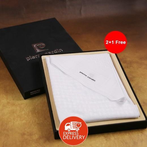 بيير كاردن - شماغ أبيض 55 إنش 2+1 مجاناً