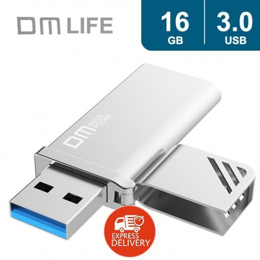 دي ام لايف – USB 3.0 فلاش دريف معدني تصميم ولاعة – 16 جيجا - فضي