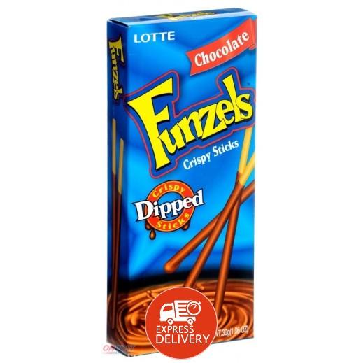 لوتي – أصابع بسكويت مغطاه بالشوكولاته 30 جم